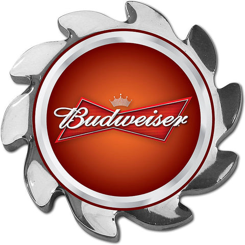Trademark Poker Abspin-Bud-S Budweiser Spinner Card Cover - Silver - Peazz Toys