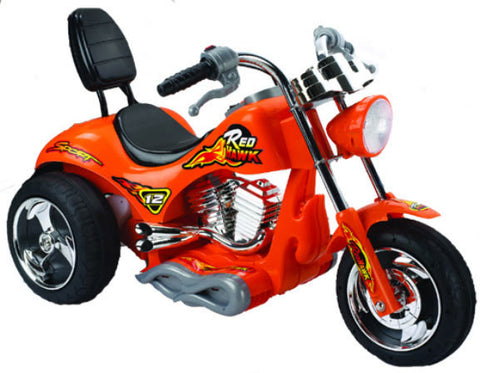 Red Hawk Motorcycle 12v Orange ZP-5008-OR - Peazz Toys