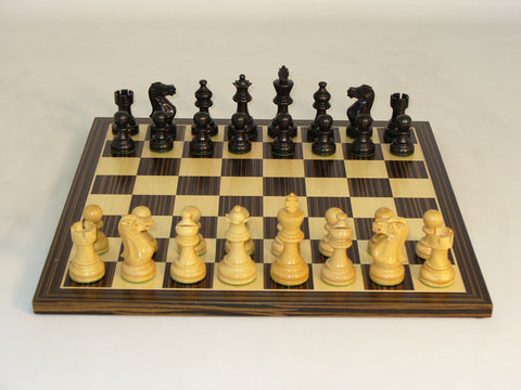 WW Chess 30BAE-EBC Black American Emperor Set - Peazz Toys