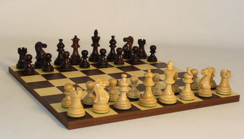 WW Chess 30RAE-DR Rosewood American Emperor Dark Rosewood Board - Peazz Toys