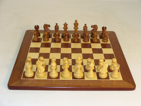 WW Chess 30SAE-PM Shshm Amer. Emperor on Sapele Board - Peazz Toys