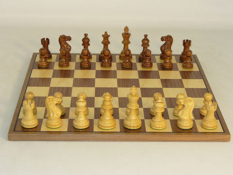 WW Chess 30SAE-WC Shshm Amer. Emperor on Walnut Board - Peazz Toys