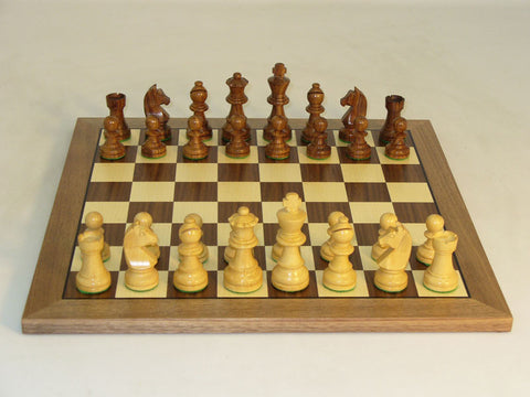 WW Chess 30SG-WC Shshm German on Walnut Board - Peazz Toys