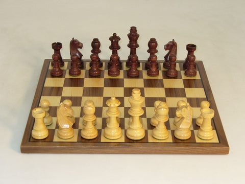 WW Chess 30WG-WC Walnut Stain German on Walnut Board - Peazz Toys