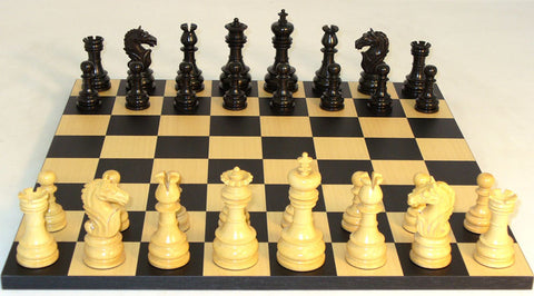 WW Chess 40BLOT-BB Black Lotus on Black Basic Board - Peazz Toys