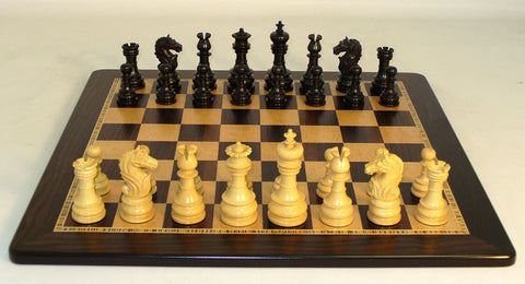 WW Chess 40BLOT-EBM Black Lotus on Ebony Birdseye Maple Board - Peazz Toys