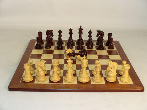 WW Chess 42BRPRDQ-PM Bud Rosewood Parthenon Padauk Maple Board - Peazz Toys