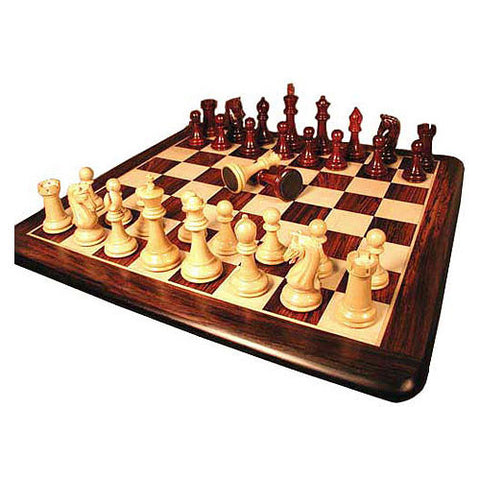 "Chetak Bud Rosewood Triple Weight DQ, Leather Pads: Rosewood/Maple Thick Board 2.2"" Square - Peazz Toys"