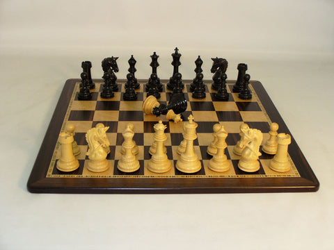 WW Chess 42EPRDQ-EBM Ebony Parthenon Ebony Birdseye Maple Board - Peazz Toys