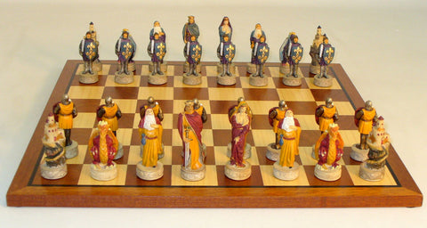 Royal Chess Middle Ages on Sapele Board Set (R67627-SM) - Peazz Toys