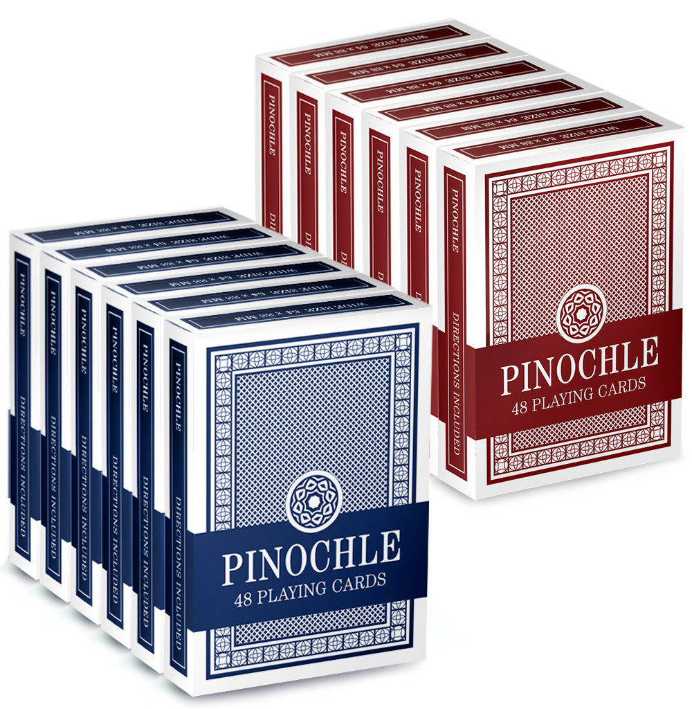 Brybelly Gcar-101*6.102*6 12 Pack Of Pinochle Playing Cards (6 Red/6 Blue)
