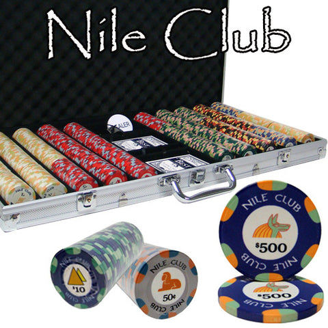 Brybelly PCS-1205 750 Ct Standard Breakout Nile Club Chip Set - Aluminum Case - Peazz Toys