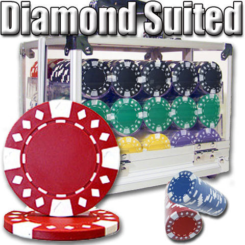 Brybelly PSC-1804A 600 Ct - Pre-Packaged - Diamond Suited 12.5 G - Acrylic - Peazz Toys