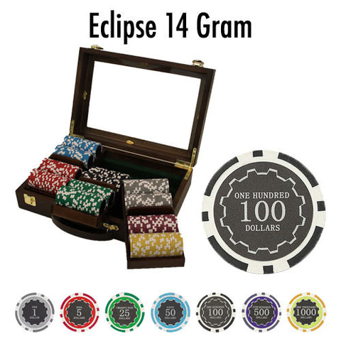 Brybelly PSC-3004 300 Ct Pre-Packaged Eclipse 14 Gram Chips - Walnut - Peazz Toys