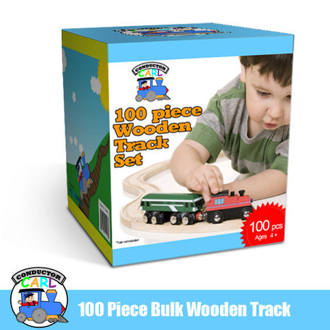 Conductor Carl TCON-05 Conductor Carl 100 Piece Bulk Train Track Pack - Peazz Toys