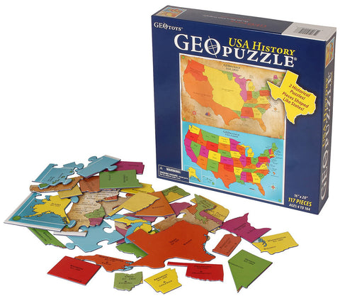 GeoToys TGEO-03 GeoPuzzle Africa and the Middle East Educational Geography - Peazz Toys