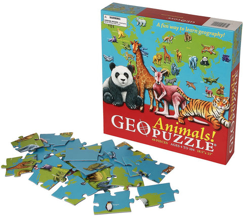 GeoToys TGEO-04 GeoPuzzle United States and Canada Educational Geography - Peazz Toys