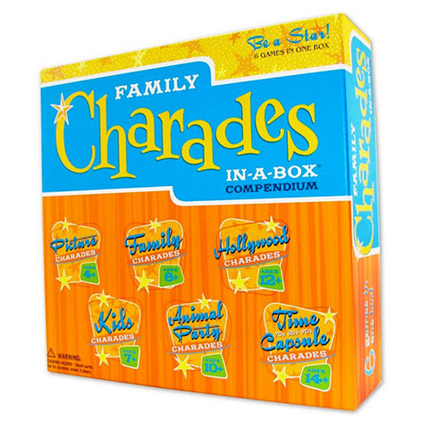 OutSet Media TOUT-02 Family Charades: In-A-Box Compendium - Peazz Toys