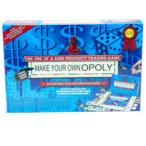 TDC TTDC-06 Make Your Own Opoly Board Game - Peazz Toys