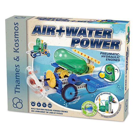 Thames & Kosmos TTKM-01 Air and Water Power Pneumatic Hydraulic Engines Kit - Peazz Toys