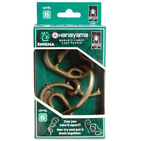 University Games TUNI-22 Hanayama Enigma Level 6 Puzzle - Peazz Toys