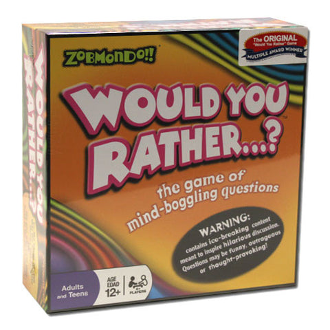 Zobmondo TZOB-01 Zobmondo!! Would You Rather...? Board Game - Classic Version - Peazz Toys