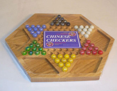 Chinese Checkers - Hexagon 13 x 13 x .75 SQ25 - Peazz Toys