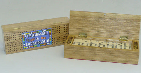 Cribbage Box w/ Double 6 Dominoes - Peazz Toys