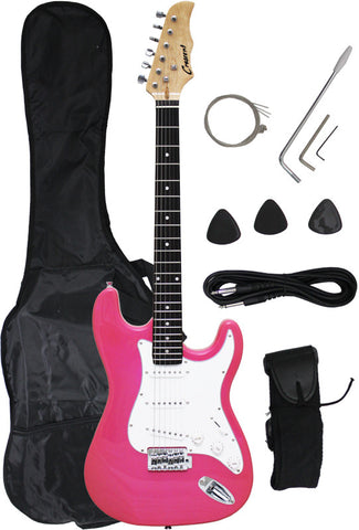 Crescent Direct  EG-PK 39 Inch Pink Premium Electric Guitar - Peazz Toys