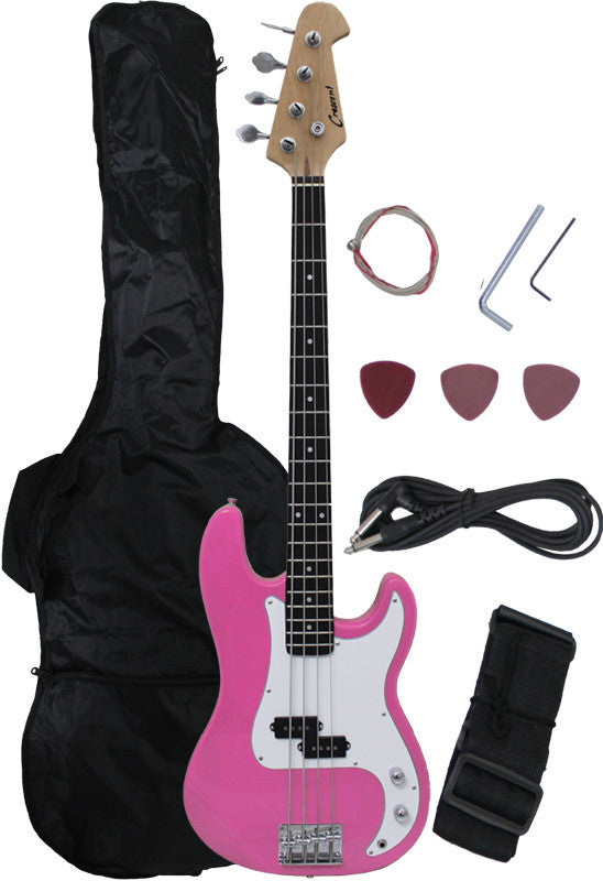 Crescent Direct EB46-PK 46 Inch Pink Premium Electric Bass Guitar