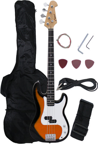 Crescent Direct EB46-SB 46 Inch Sunburst Premium Electric Bass Guitar - Peazz Toys