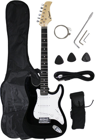 Crescent Direct EG-BK 39 Inch Black Premium Electric Guitar - Peazz Toys