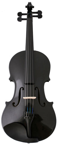 Crescent Direct VL-BK3/4 3/4 Black Maplewood Acoustic Violin with Case, Rosin, and Bow - Peazz Toys