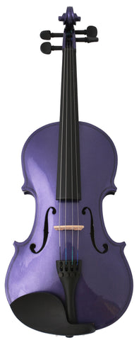 Crescent Direct VL-PRM1/2 1/2 Purple Maplewood Acoustic Violin with Case, Rosin, and Bow - Peazz Toys