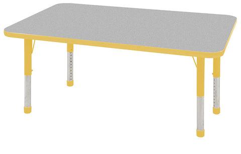 "ECR4Kids ELR-14110-GYE-C 30x48"" Rect Table Grey/Yellow-Chunky - Peazz Toys"