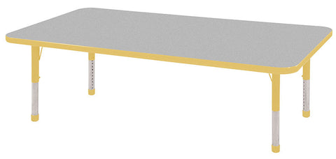 "ECR4Kids ELR-14111-GYE-C 30x60"" Rect Table Grey/Yellow-Chunky - Peazz Toys"