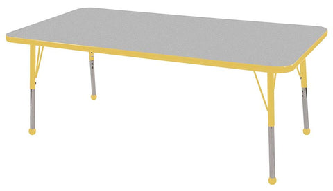 "ECR4Kids ELR-14111-GYE-SB 30x60"" Rect Table Grey/Yellow-Standard Ball - Peazz Toys"