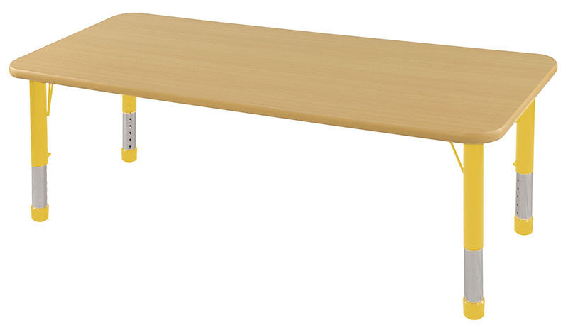 ECR4Kids ELR-14111-MMYE-C 30x60 Rect Table Maple/Yellow-Chunky