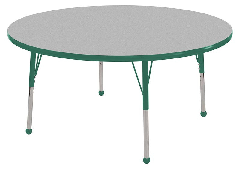 ECR4Kids ELR-14114-GGN-SB 36 Round Table Grey/Green-Standard Ball