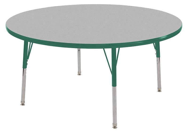 ECR4Kids ELR-14114-GGN-SS 36 Round Table Grey/Green-Standard Swivel