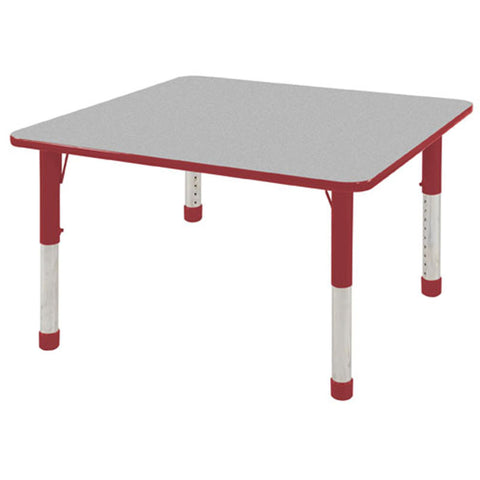 "ECR4Kids ELR-14116-GRD-C 30"" Square Table Grey/Red-Chunky - Peazz Toys"