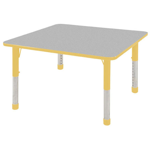 "ECR4Kids ELR-14117-GYE-C 48"" Square Table Grey/Yellow-Chunky - Peazz Toys"