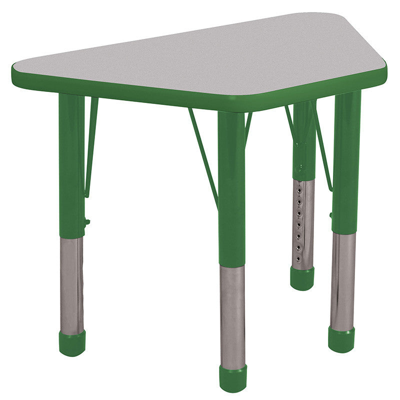 ECR4Kids ELR-14118-GGN-C 18x30 Trap Table Grey/Green-Chunky