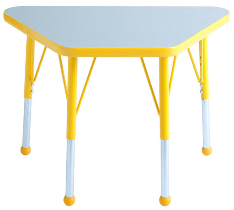 "ECR4Kids ELR-14118-GYE-SB 18x30"" Trap Table Grey/Yellow-Standard Ball - Peazz Toys"