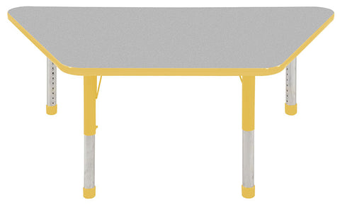 "ECR4Kids ELR-14119-GYE-C 30x60"" Trap Table Grey/Yellow-Chunky - Peazz Toys"