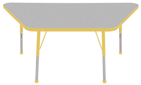 "ECR4Kids ELR-14119-GYE-SB 30x60"" Trap Table Grey/Yellow-Standard Ball - Peazz Toys"