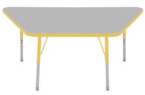 "ECR4Kids ELR-14119-GYE-SS 30x60"" Trap Table Grey/Yellow-SS - Peazz Toys"