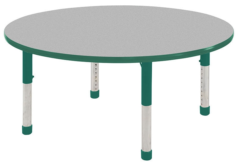 ECR4Kids ELR-14121-GGN-C 30 Round Table Grey/Green -Chunky