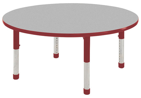 "ECR4Kids ELR-14121-GRD-C 30"" Round Table Grey/Red -Chunky - Peazz Toys"
