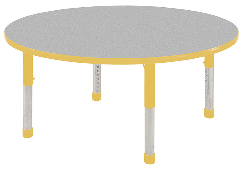 ECR4Kids ELR-14121-GYE-C 30 Round Table Grey/Yellow -Chunky